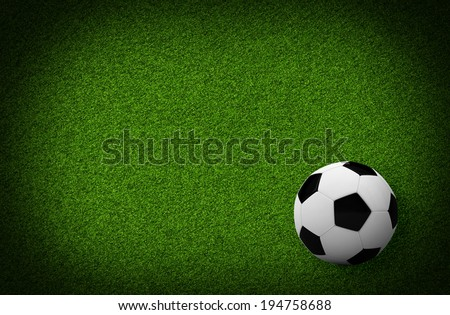 Empty football field. Top view. Sports Concept - stock photo