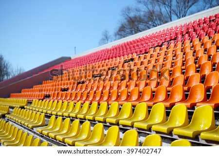 Empty Football Stadium Seats in outdoors