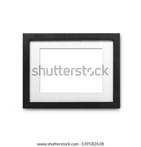 empty frame with clean wall with clipping path