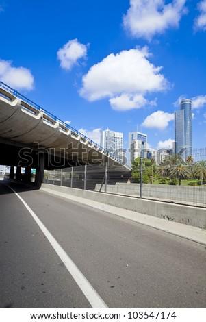 Empty freeway - stock photo