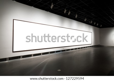empty gallerys in museum - stock photo