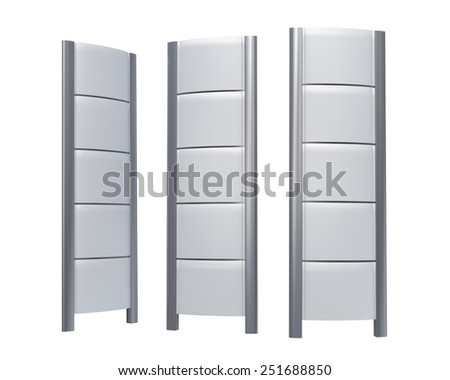 Empty gas station stand set - stock photo