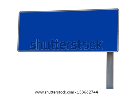 Empty German highway road sign - stock photo
