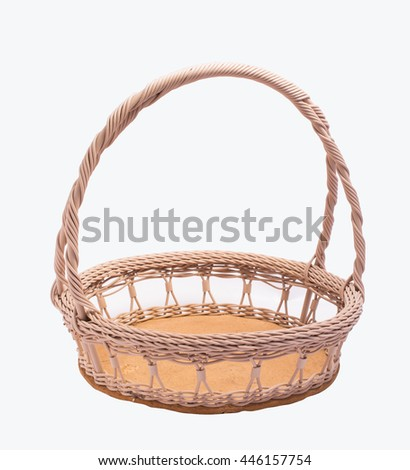 empty gift basket isolated on white background