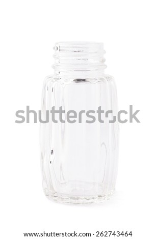 Empty glass bottle container isolated over the white background - stock photo