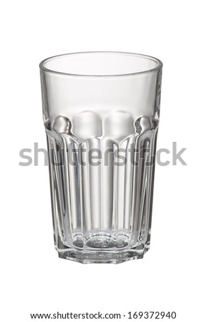 Empty glass for beer isolated on white background.