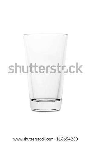 Empty glass for cocktail, isolated on white background