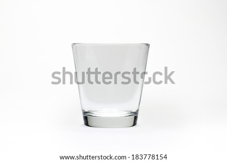 Empty glass for water, juice or mil