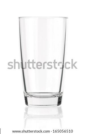 Empty glass for water, juice or milk - stock photo