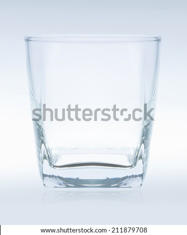 empty glass for whiskey, file includes a excellent clipping path - stock photo