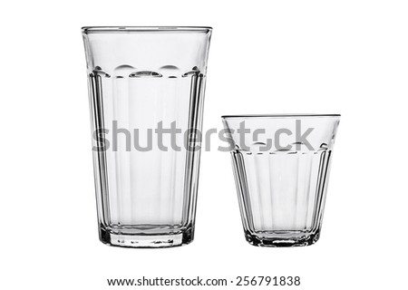 Empty glass isolated on a white.