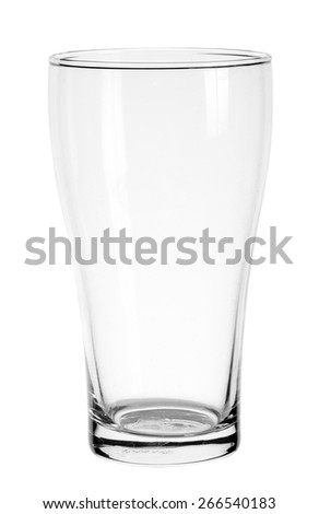 Empty glass isolated on a white background .