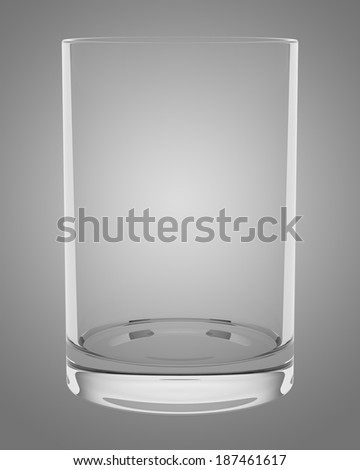 empty glass isolated on gray background
