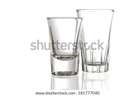 Empty glass. Isolated on white background