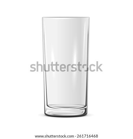 Empty glass isolated on white background, illustration. - stock photo