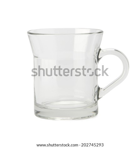 Empty glass isolated on white background with clipping path