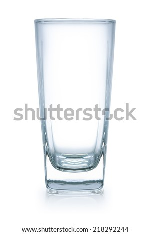 empty glass, isolated on white,  file includes a excellent clipping path - stock photo
