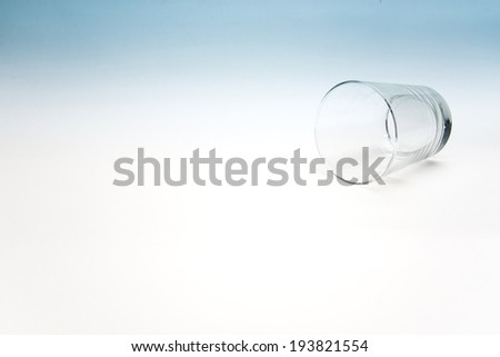Empty glass of water - stock photo