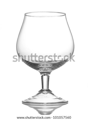 Empty glasses isolated on white - stock photo