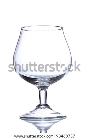 Empty glasses isolated on white - stock photo