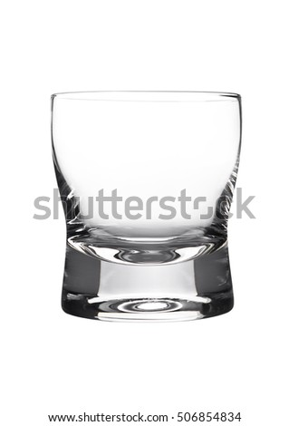 Empty glasss of whiskey  isolated on white background