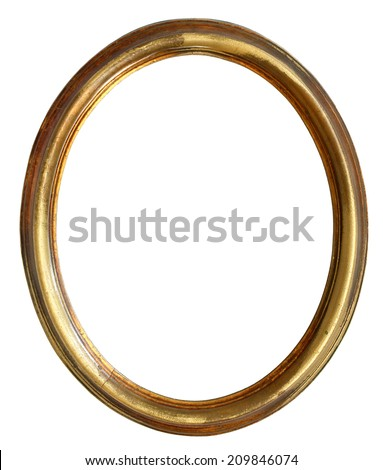 Empty golden frame  - stock photo