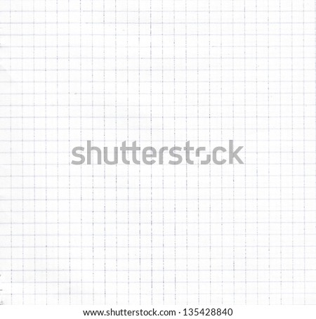 Empty graph grid scale paper - stock photo