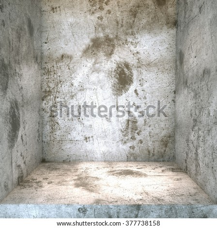 Empty gray concrete  background, For product display - stock photo