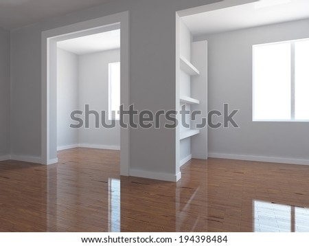 empty gray interior