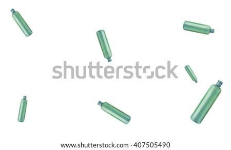 Empty green bottles - stock photo