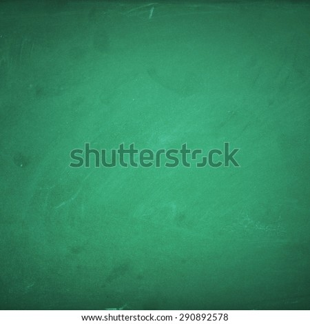 Empty green chalk board background - stock photo