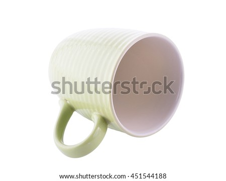 empty green Cup isolated on white background