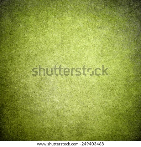 Empty green grunge background wall - stock photo