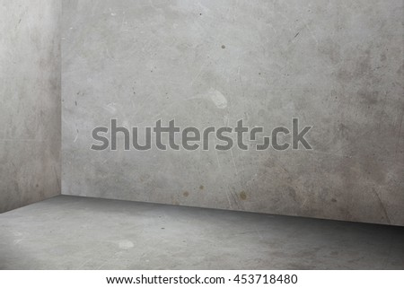 Empty grey grunge concrete perspective room,Mock up for display or montage of product or content - stock photo