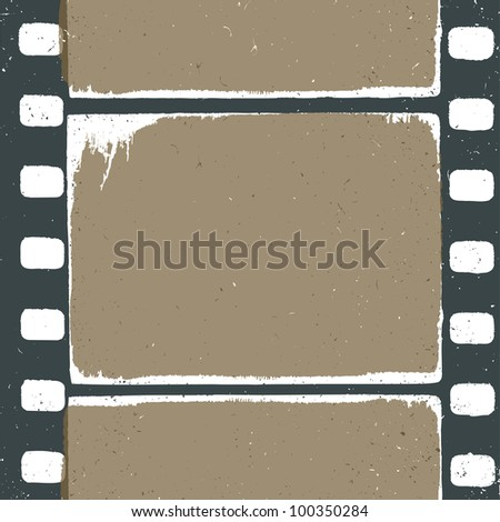 Empty grunge film strip design, may use as a background or overlays, raster version. - stock photo