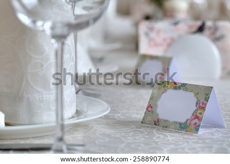 Empty guest plates - stock photo
