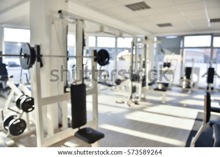 Empty gym blurred out of focus image