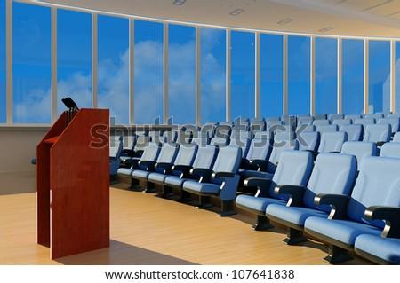 Empty hall for public performances. - stock photo