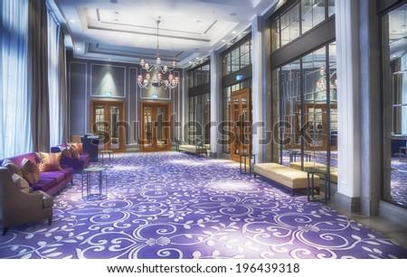 empty hall in luxury restaurant  - stock photo