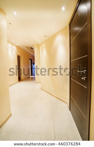 Empty hall of a new penthouse