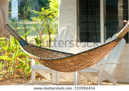 Empty hammock - stock photo