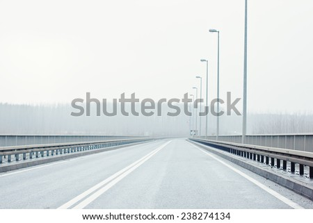 Empty highway road - stock photo
