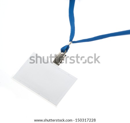 Empty Identification tag isolated on white