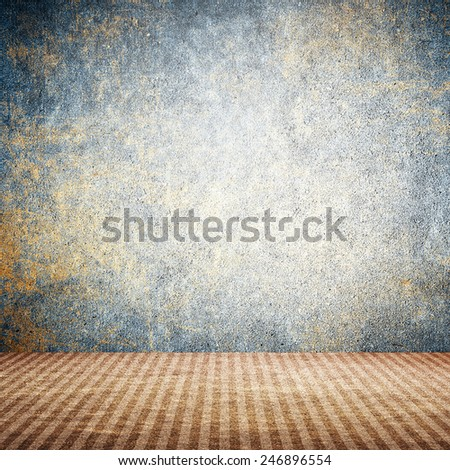Empty interior background - bright wall and floor
