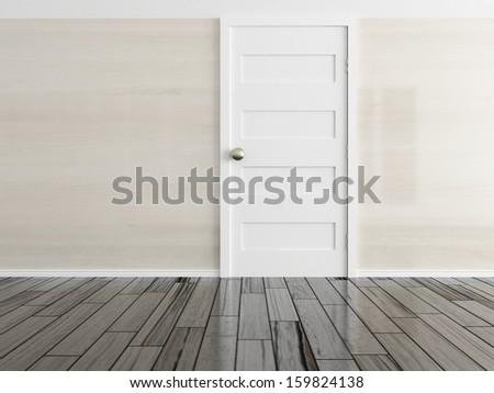 empty interior with a door  - stock photo