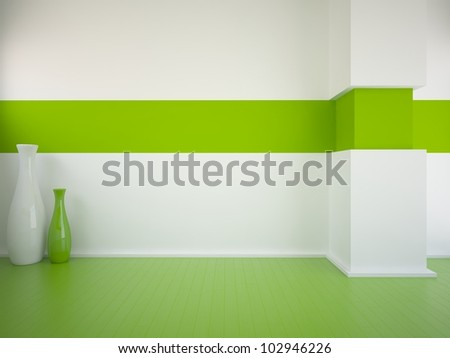 Green Floor empty interior green floor vases stock illustration 102946226