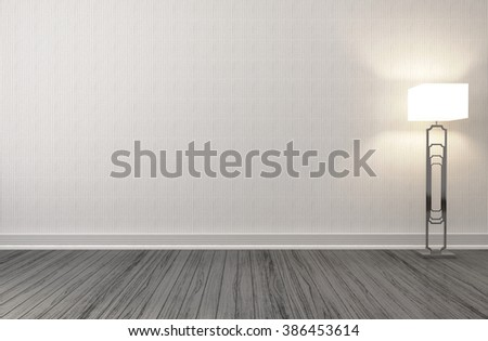 empty interior with lamp included. 3d illustration - stock photo