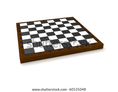 Empty isolated volume chess board - stock photo
