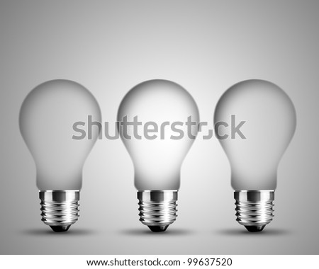 empty light bulbs , light bulb conceptual Image. - stock photo