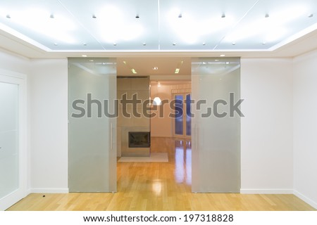 Empty living room interior - stock photo